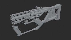 Concept sci fi weapon 3D model