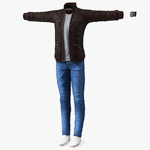 Teenage Boy Street Outfit 3D model