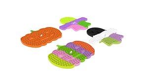 3D Halloween Board Game Pop It Fidget Toys Set