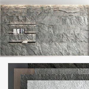 3D model Decorative wall panel set 62