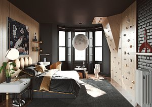 3D room black