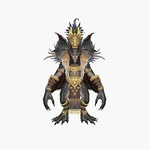 3D Dragon King model