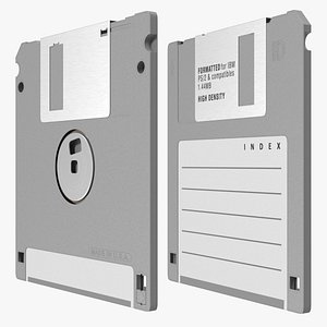 High Density Floppy Disk 3D