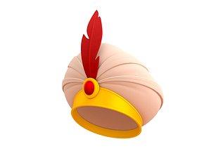 sultan hat 3D model