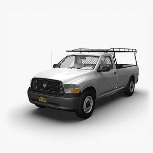 3D model 2009 Dodge Ram RegCab WT