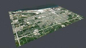 Cityscape Gary Indiana USA 3D model