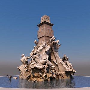 fountain fiumi 3D model