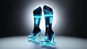 Female Boots Sci-Fi High Tech 3D model