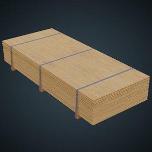 Wooden Sheets 2A 3D model