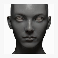 female 20s high detail zbrush, obj file with low poly