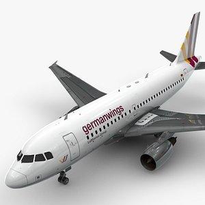 Airbus A319-100 GERMANWINGS L1376 3D model