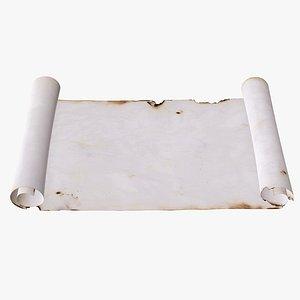 scroll paper roll 3D model