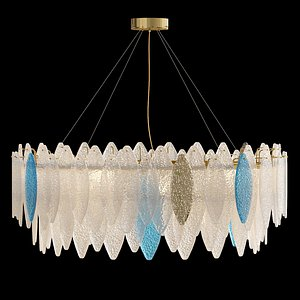 3D ring chandelier