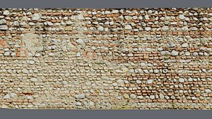 Ultra realistic Brick Old wall hy poly Scan 3D model 3D model
