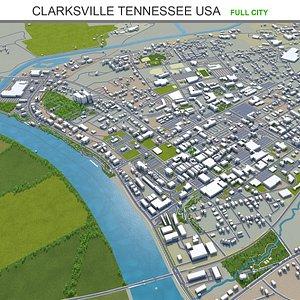 Clarksville Tennessee USA 3D model