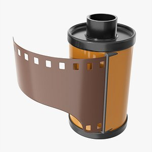 3D model Photographic film with cassette