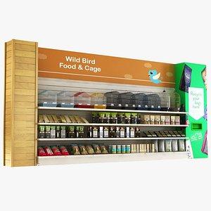 Pet Shop - Bird Food and Cages 3D model