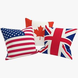Flags Pillows V2 3D