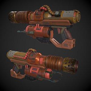 Sci-fi Flamethrower 3D