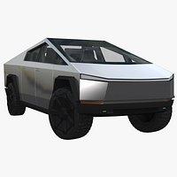 Tesla Cybertruck with Interior 3D