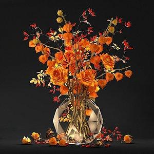 3D Bouquet with physalis model