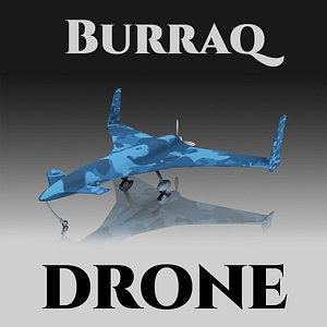 Burraq UAV Drone 3D model