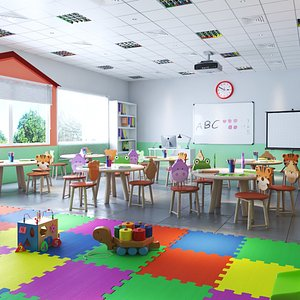 3D nursery class school model