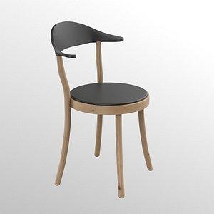 Plank Monza restaurant Chair black finish model