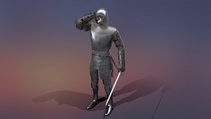knight male character model