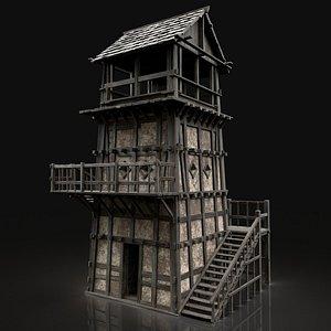 medieval watchtower tower model