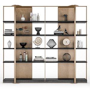 3D holt bookcase caste model
