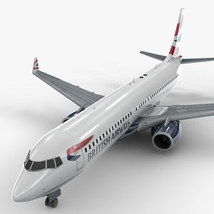 boeing 737-8 british airways 3D