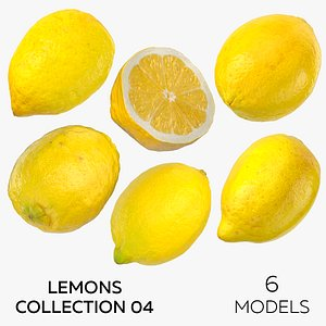 3D Lemons Collection 04 - 6 models model