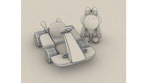 3D yoshi mario kart model