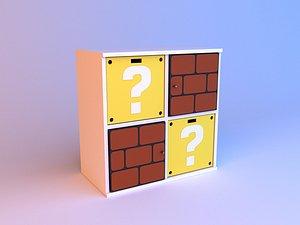 3D Mario kids bookcase model
