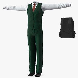 Teenage School Uniform 3D model