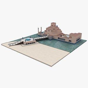 Museum of Islamic Art Qatar 3D