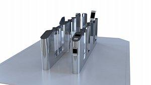 Gate, Intelligent Gate, Security Entrance 3D model