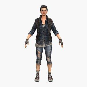 warrior rigged 3D model
