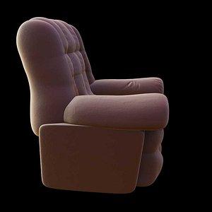 3D Classic Leather Sofa model