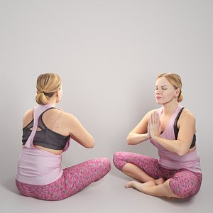 Woman in pink doing yoga 305 model