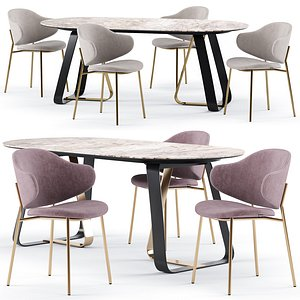 3D holly dining chair sunshine model