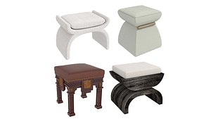 3D stool pouf