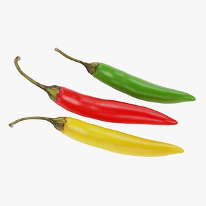Chilli Peppers 3D model