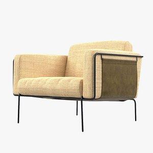 3D chair armchair leather model