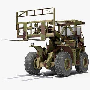 Terrain Military Forklift Camo 3D model