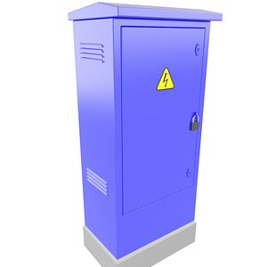 3D Factory Electrical Box Cabinet 3D Model 38