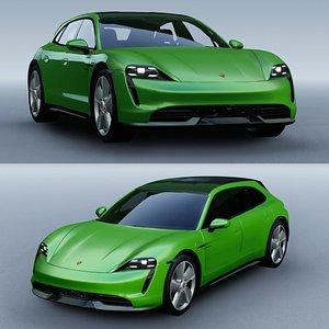 Porsche Taycan Turbo S Cross Turismo 2022 3D model