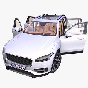 generic european suv interior car 3D