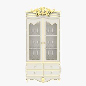 3D model Victorian Cabinet White
